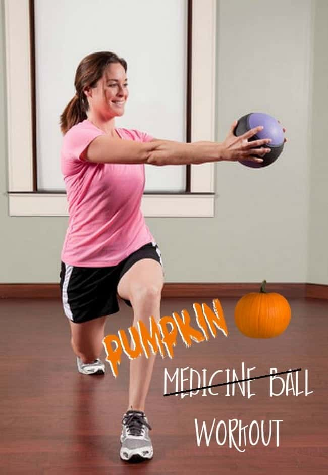 Pumpkin Medicine Ball Fitness - a fun festive twist on an average workout - www.happyfoodhealthylife.com