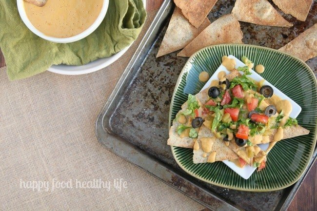 Nachos with Vegan Cheese and Homemade Chips   www.happyfoodhealthylife.com