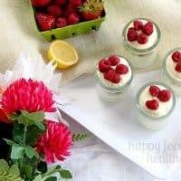 No-Bake Lemon Berry Cheesecake Mousse Parfait