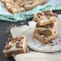 Oatmeal Cookie Cheesecake Bars