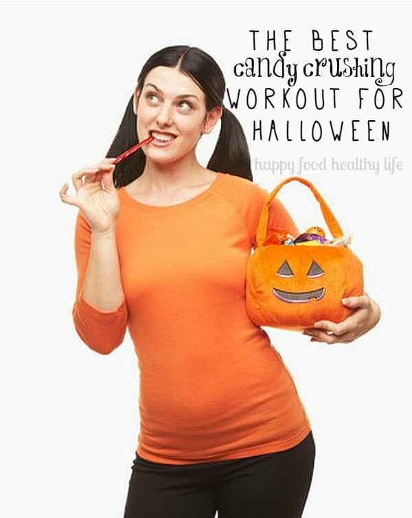 The Best Candy Crushing Workout for Halloween. Indulging in too much candy this year? Combat it with this super simple 10-minute workout! | www.happyfoodhealthylife.com