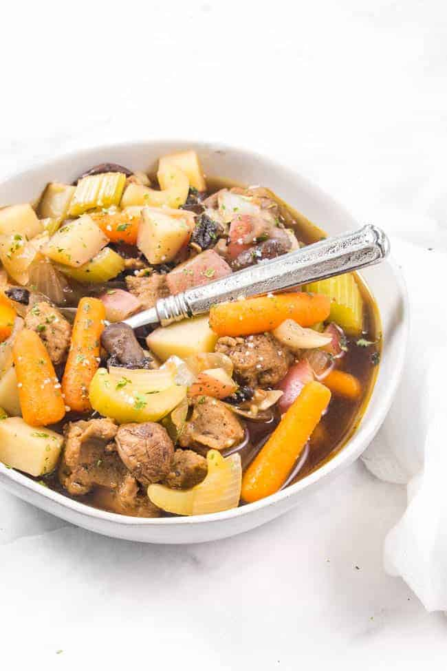 Vegan Pot Roast is a perfect dump-and-go recipe for the crockpot and will be ready and waiting for you when you get home from a busy day at work.