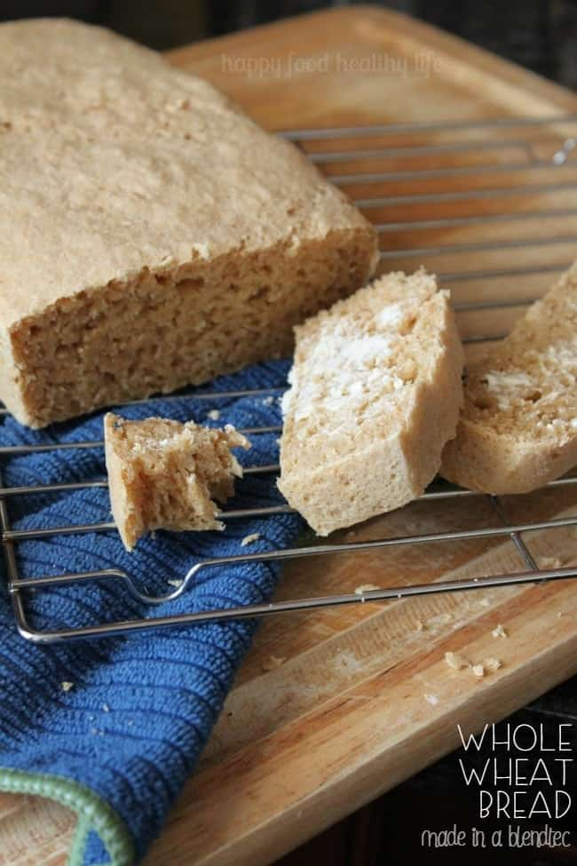 Whole Wheat Bread Made in a Blendtec - that's right; you can make the majority of the bread in your Blendtec blender! | www.happyfoodhealthylife.com