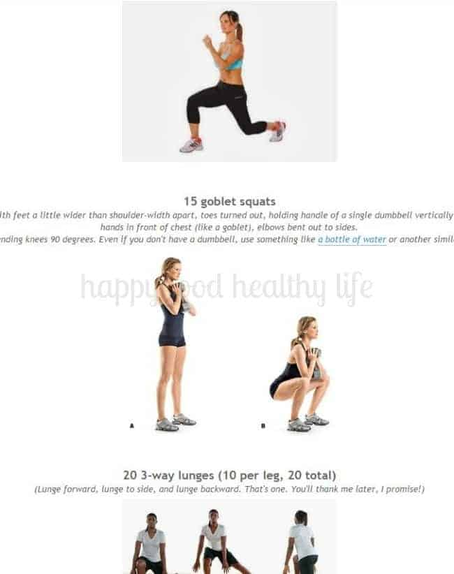 Tone and Tighten's awesome leg workout that will leave your bottom half fit and sculpted - that is, after the 3 days of not being able to move properly because of the intensity of this one! | www.happyfoodhealthylife.com