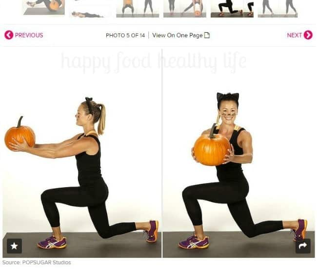 Pumpkin Kettlebell Workout - A fun festive twist on your kettlebell - www.happyfoodhealthylife.com