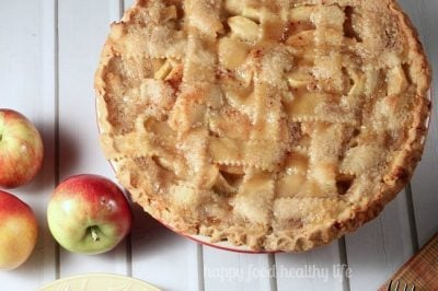 Homemade Caramel Apple Pie