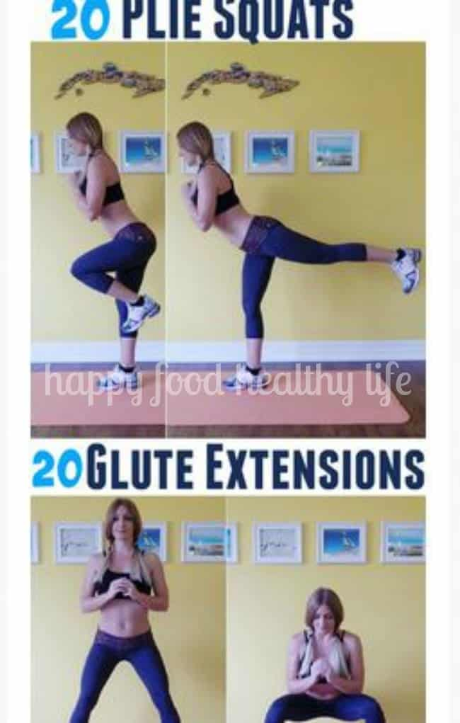 The Best No-Weight At-Home Glute Workout  | www.happyfoodhealthylife.com