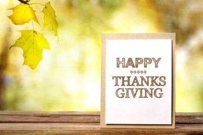 Happy Thanksgiving! I'm Grateful for YOU!