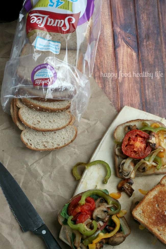 Melty Roasted Veggie Sandwich - an easy healthy sandwich that has comfort written all over it | www.happyfoodhealthylife.com