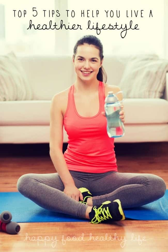 Top 5 Tips for Helping You Live a Healthier Lifestyle - Sometimes you need just a few helpful tips to get you moving in the right direction. - www.happyfoodhealthylife.com