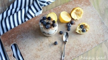 Coconut Lemon Pudding Parfaits - a lightened up dessert that is sure to bring more sunshine to your tastebuds | www.happyfoodhealthylife.com