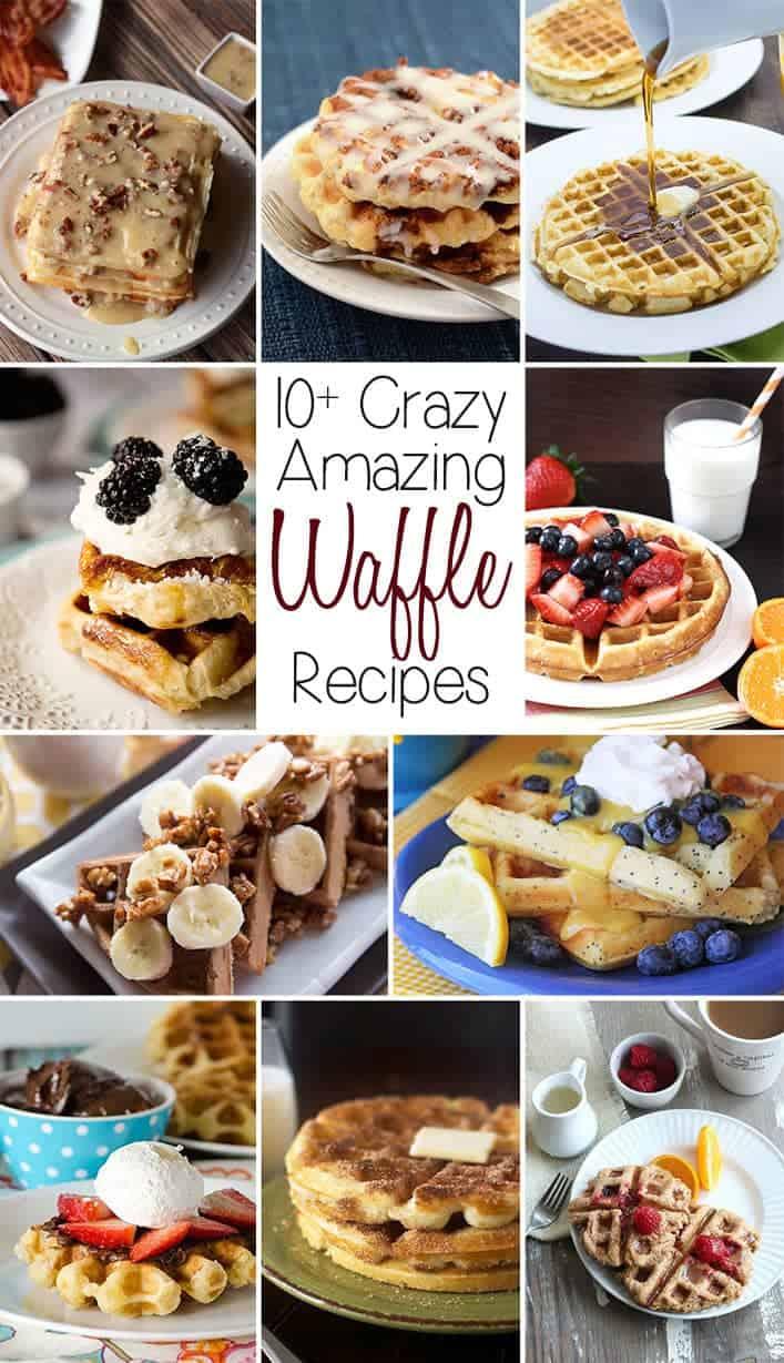 10+ Crazy Amazing Waffle Recipes | www.happyfoodhealthylife.com