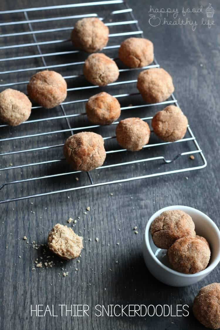 Healthier Snickerdoodles - Everyone loves a snickerdoodle. But sometimes you just need to lighten things up (while keeping the flavor!) | www.happyfoodhealthylife.com