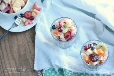 There's Fruit Salad, and then there's TROPICAL FRUIT SALAD that's totally kicked up! www.happyfoodhealthylife.com