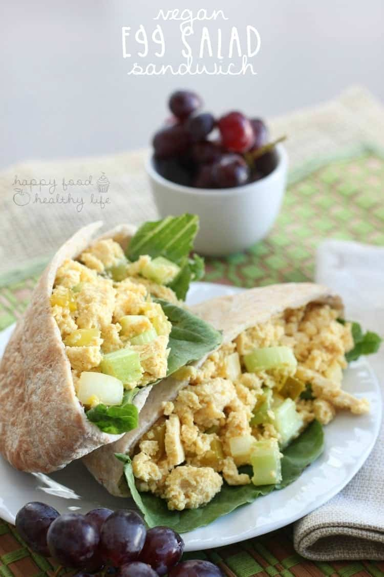 Vegan Egg Salad Sandwich - eating animal free but missing out on the deliciousness of egg salad sandwiches? This healthy alternative is sure to satisfy! | www.happyfoodhealthylife.com