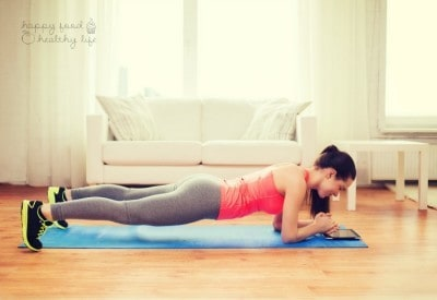 How to Get a Killer AB WORKOUT At Home! without doing even ONE crunch! | www.happyfoodhealthylife.com