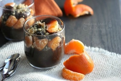 Healthy Chocolate Orange Pudding Parfaits | www.happyfoodhealthylife.com