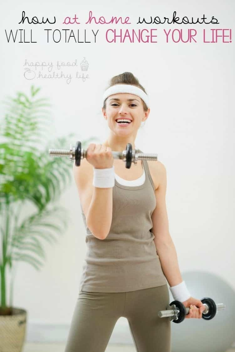 How At Home Workouts Will Totally CHANGE YOUR LIFE!! This post breaks it all down for you - you'll never need to step foot in a gym again! |www.happyfoodhealthylife.com