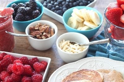 Healthy Build-Your-Own-Pancake Bar