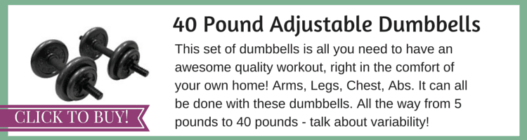 40 LB Adjustable Dumbbells
