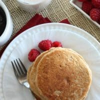 Whole Wheat Greek Yogurt Pancakes - Quick and easy homemade pancakes full of nothing but real and healthy ingredients | www.happyfoodhealthylife.com