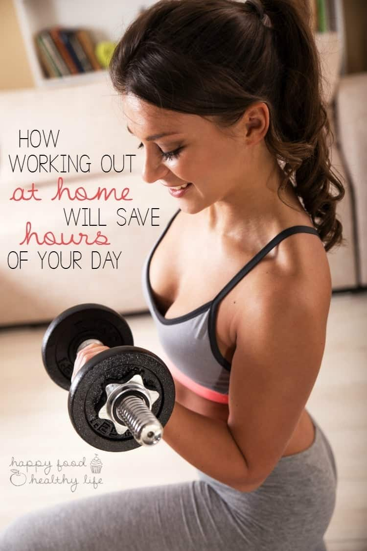 How At Home Workouts Will Save You Hours of Your Day - seriously! Wish you could just gain more time in your day to do the things you want to do - stop going to the gym! | www.happyfoodhealthylife.com