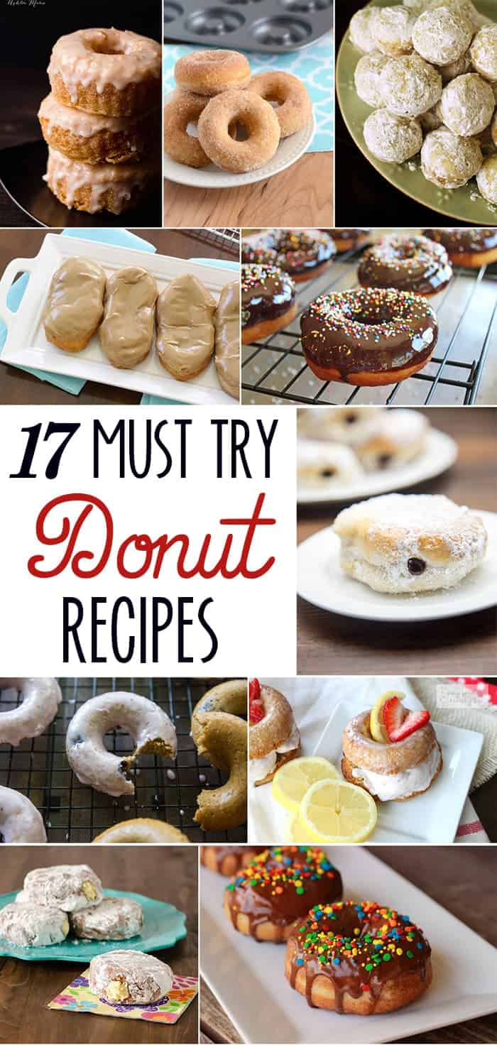 17 Must-Try Donut Recipes | www.happyfoodhealthylife.com