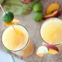 Fresh Peachy Lime Cocktail