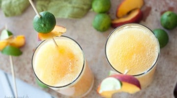 Adult Peachy Lime Cocktail | Happy Food Healthy Life