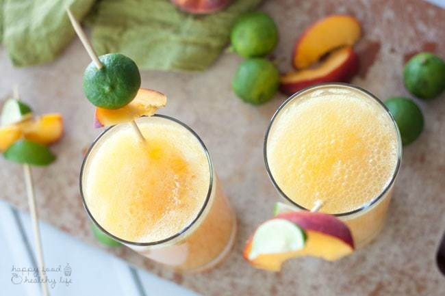 Adult Peachy Lime Cocktail   Happy Food Healthy Life