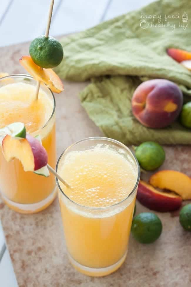 Peachy Lime Cocktail   Happy Food Healthy Life