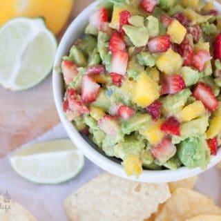 Mango-Strawberry Summer Guacamole