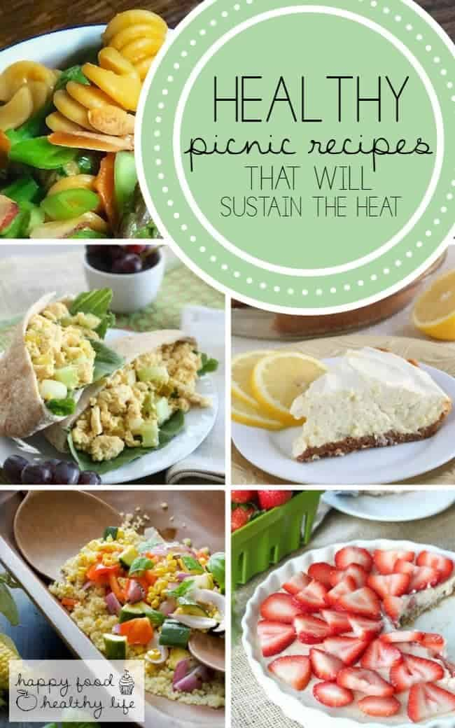Healthy Picnic Recipes - perfect ideas for what to take to a picnic that won't melt in the heat | HappyFoodHealthyLife