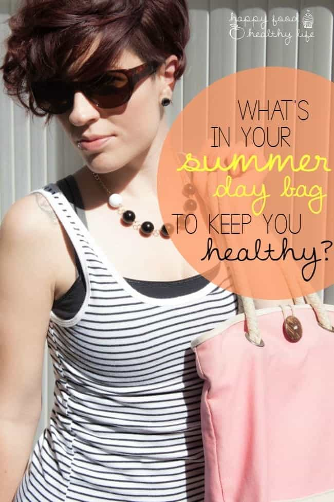 What are your go-to items for your Summer Day Bag? Make sure you stay healthy this summer with these necessities! | Happy Food Healthy Life.com #swissherbs