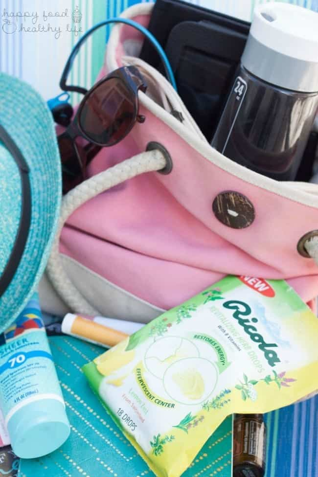What's In Your Summer Day Bag to Keep You Healthy? | HappyFoodHealthyLife.com #swissherbs