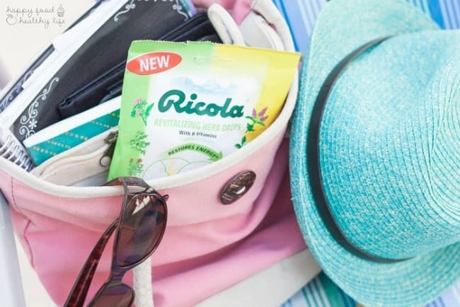 Make sure you pack your bag with all the necessities to stay healthy this summer | HappyFoodHealthyLife.com #swissherbs