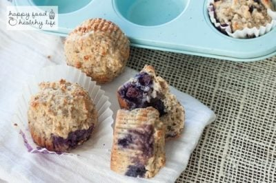 Whole Wheat Lemon Blueberry Protein  Muffins