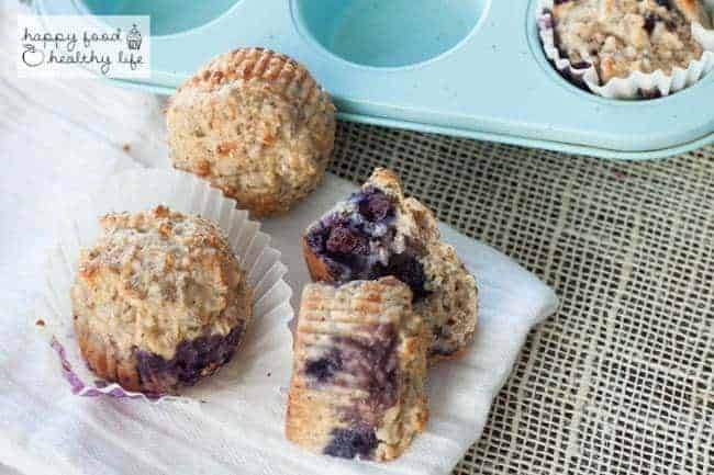 Whole Wheat Lemon Blueberry Protein Muffins   Happy Food Healthy Life