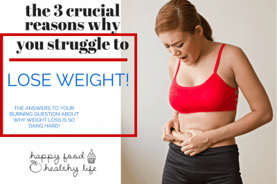 The 3 Crucial Reasons Why You Can't Lose Weight