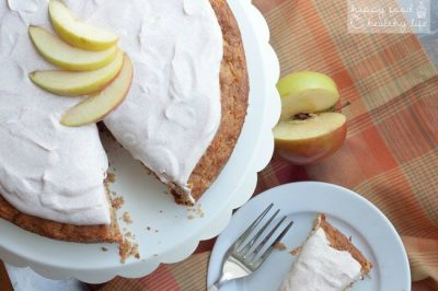 Healthy Apple Carrot Cake with Greek Yogurt Frosting