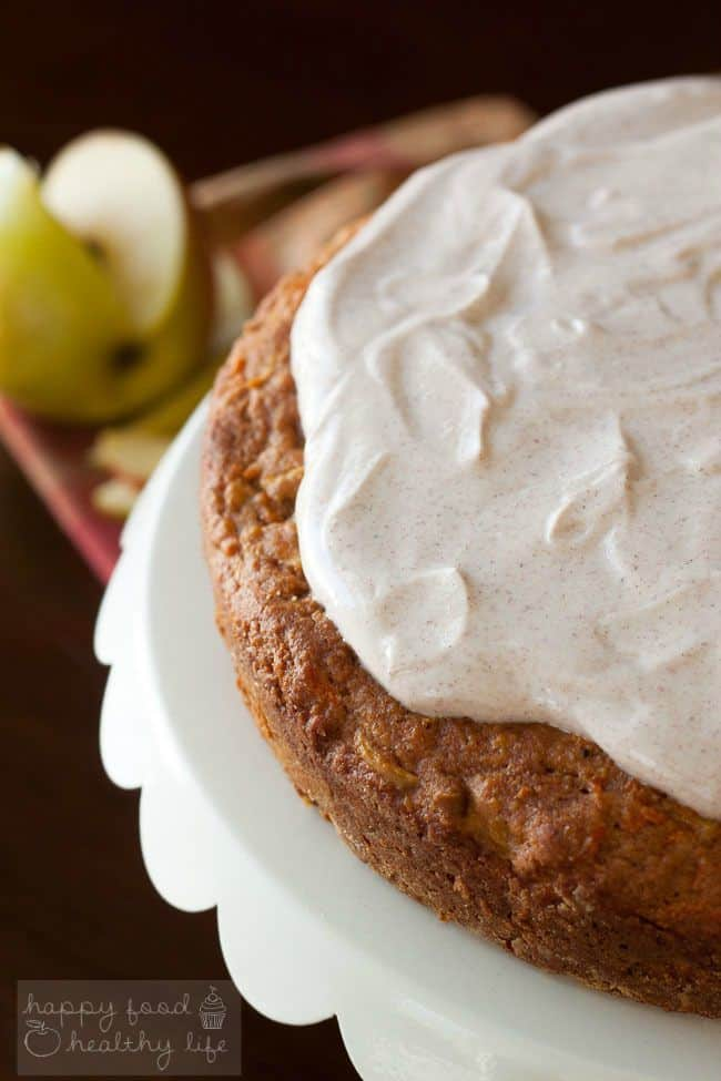 Healthy Apple Carrot Cake with Greek Yogurt Frosting | minimal added ...