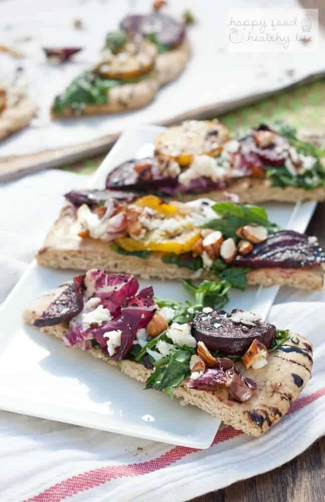 Grilled Beet Flatbread Salad   Happy Food Healthy Life