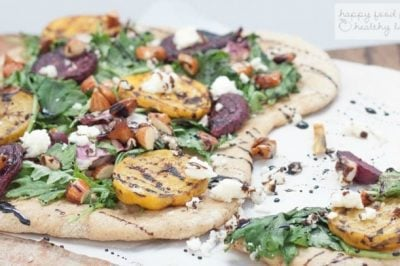 Grilled Beet Flatbread Salad