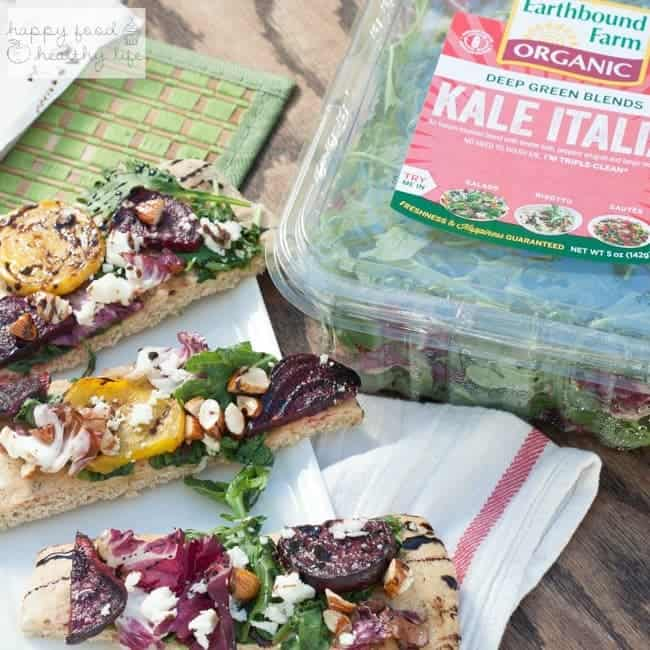 Grilled Beet Flatbread Salad | Happy Food Healthy Life