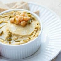 Vegan Roasted Jalapeno Cheddar Hummus | Happy Food Healthy Life
