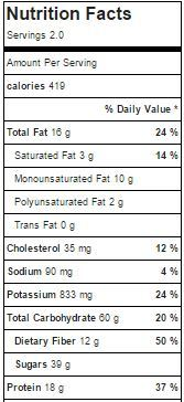 Tropical Paradise Smoothie Bowl Nutritional Info