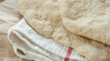 Whole Wheat Flatbread that you can use to make a pizza, to dip into soup, to top with hummus and veggies. the possibilities are endless! | Happy Food Healthy Life