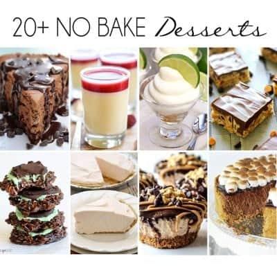 20+ No-Bake Desserts