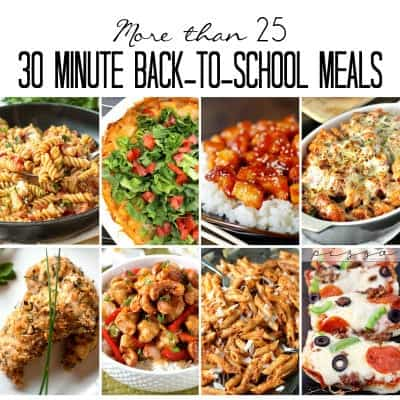 30 minute meals that will save you when you're crazy busy. perfect for back-to-school | happy food healthy life