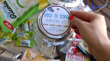 Back to School Survival Kit - Give this to the newest teacher in your life to ensure a happy and healthy school year | Happy Food Healthy Life